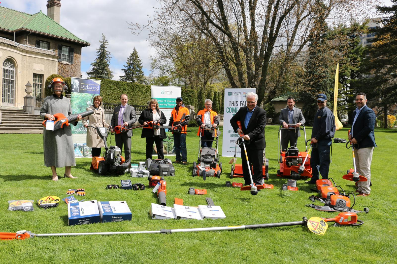 Parkwood Estates in Oshawa has brand new maintenance equipment thanks to a strong partnership.