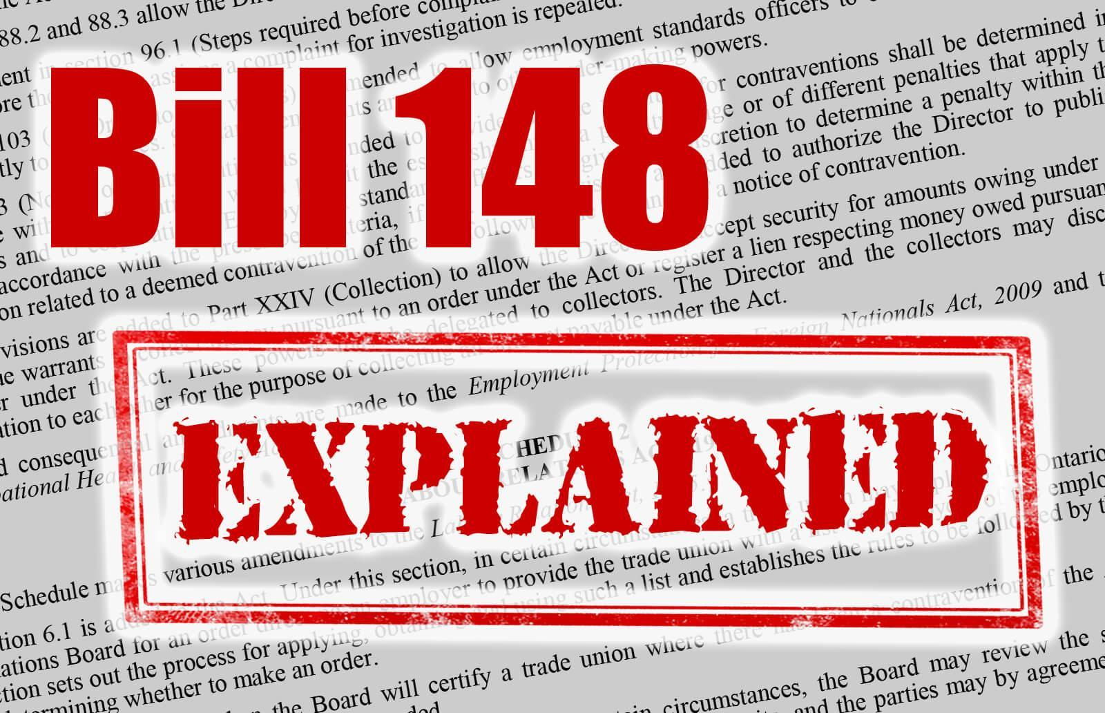 Bill 148 resources and links