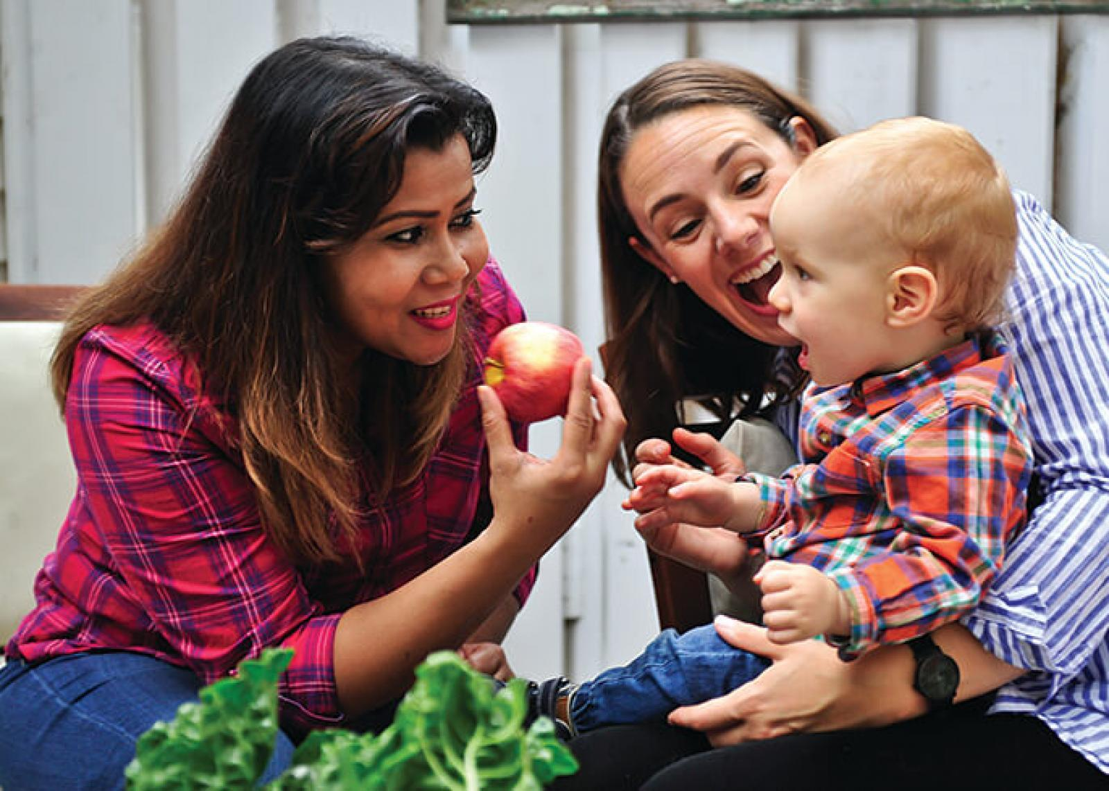 Gardens, food and family