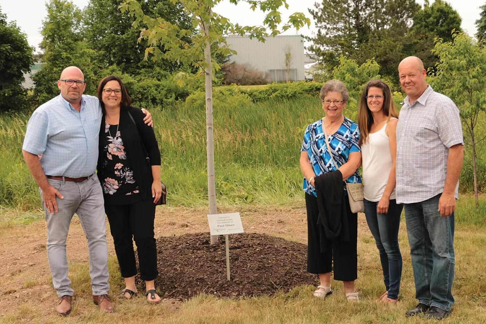 Memorial tree planted for Paul Olsen