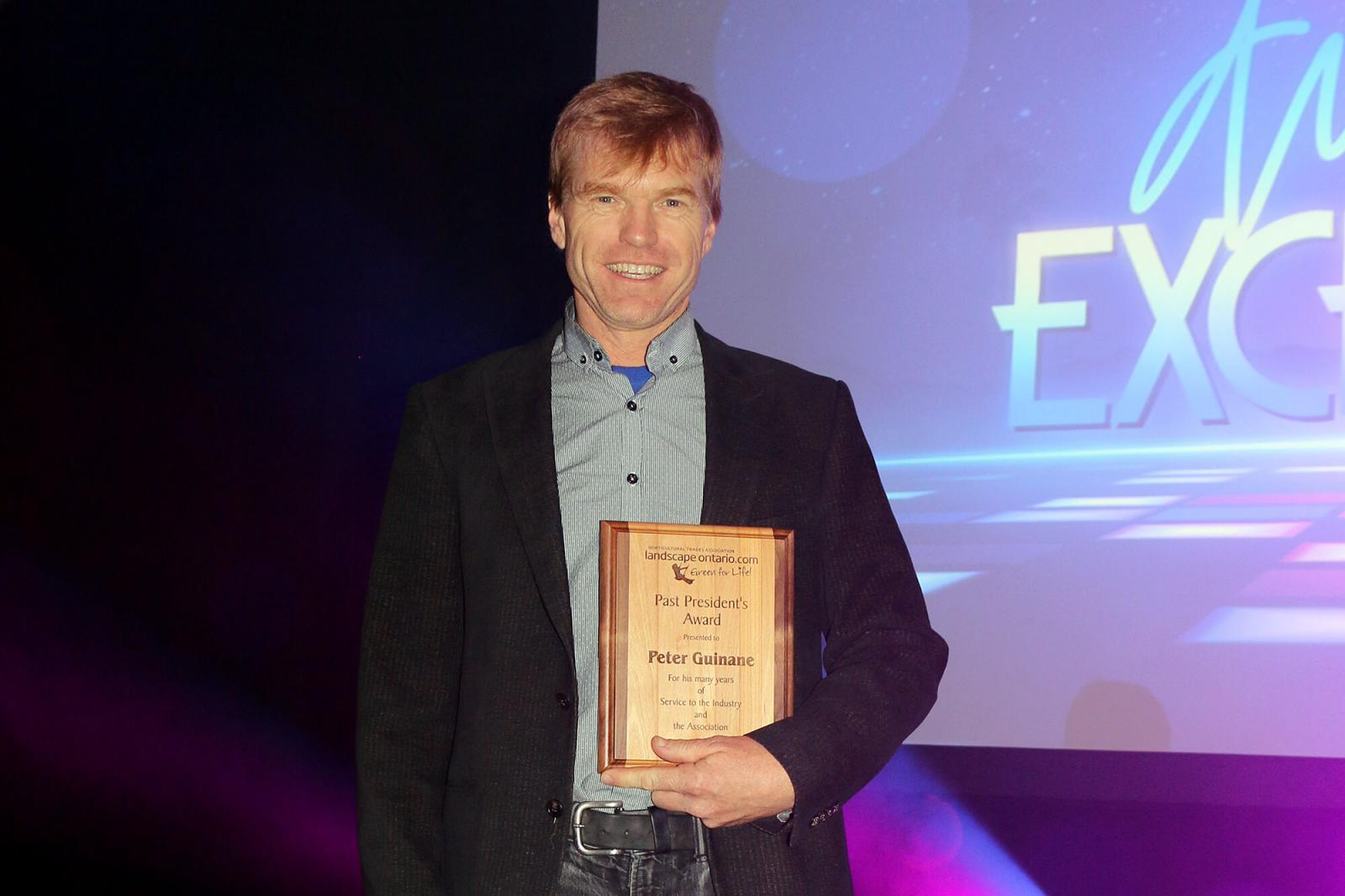 Peter Guinane received the LO Past President's award at the 2018 Awards of Excellence ceremony.