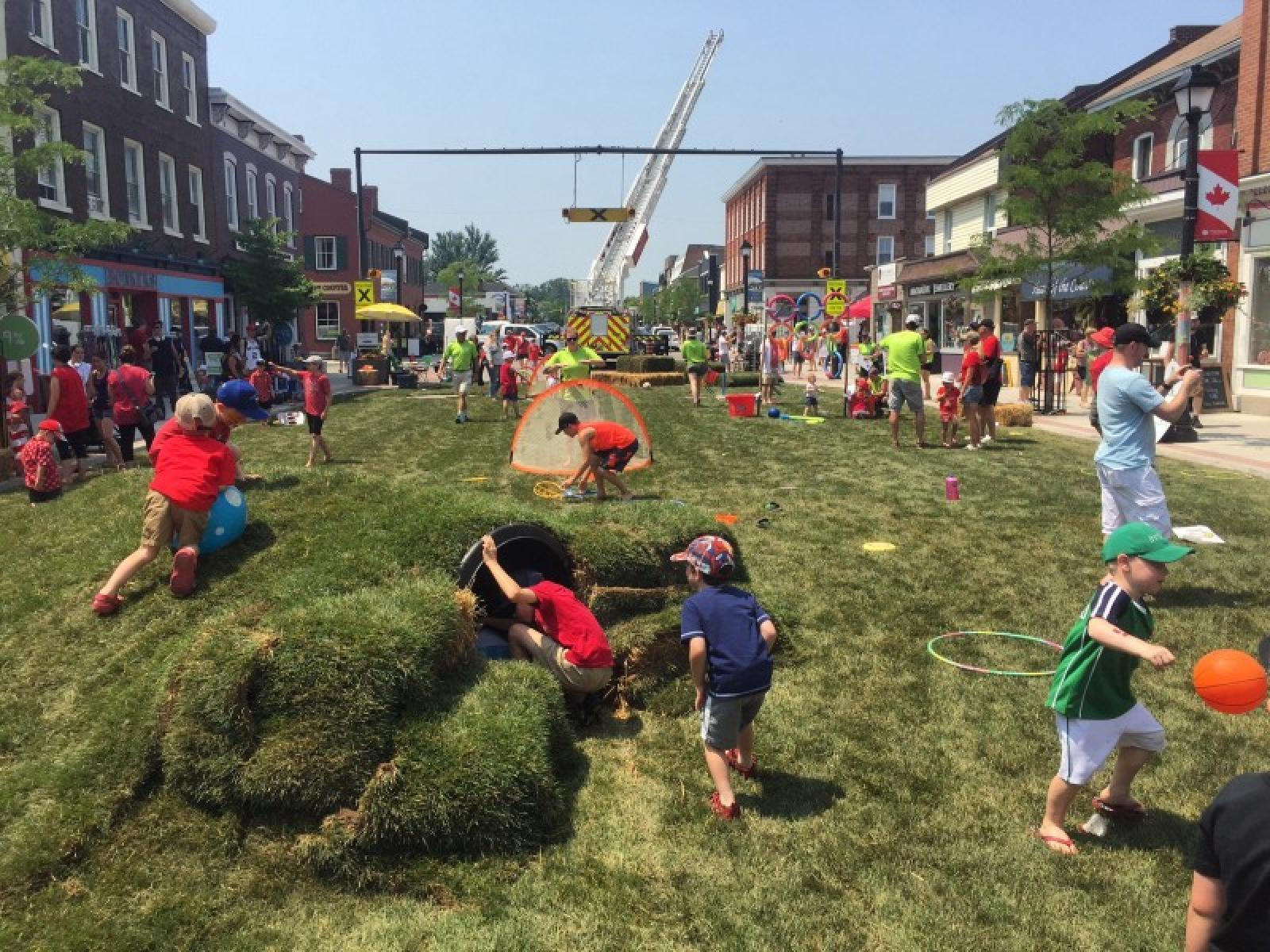 Pop up city park to teach kids the lost art of unstructured play