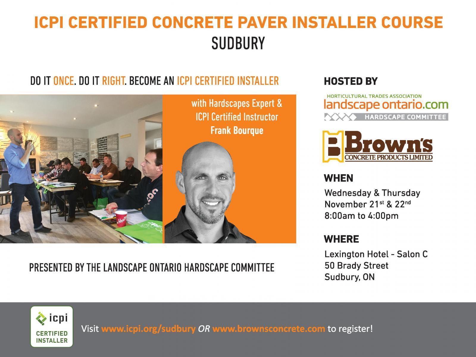 ICPI Concrete Paver Installer Course