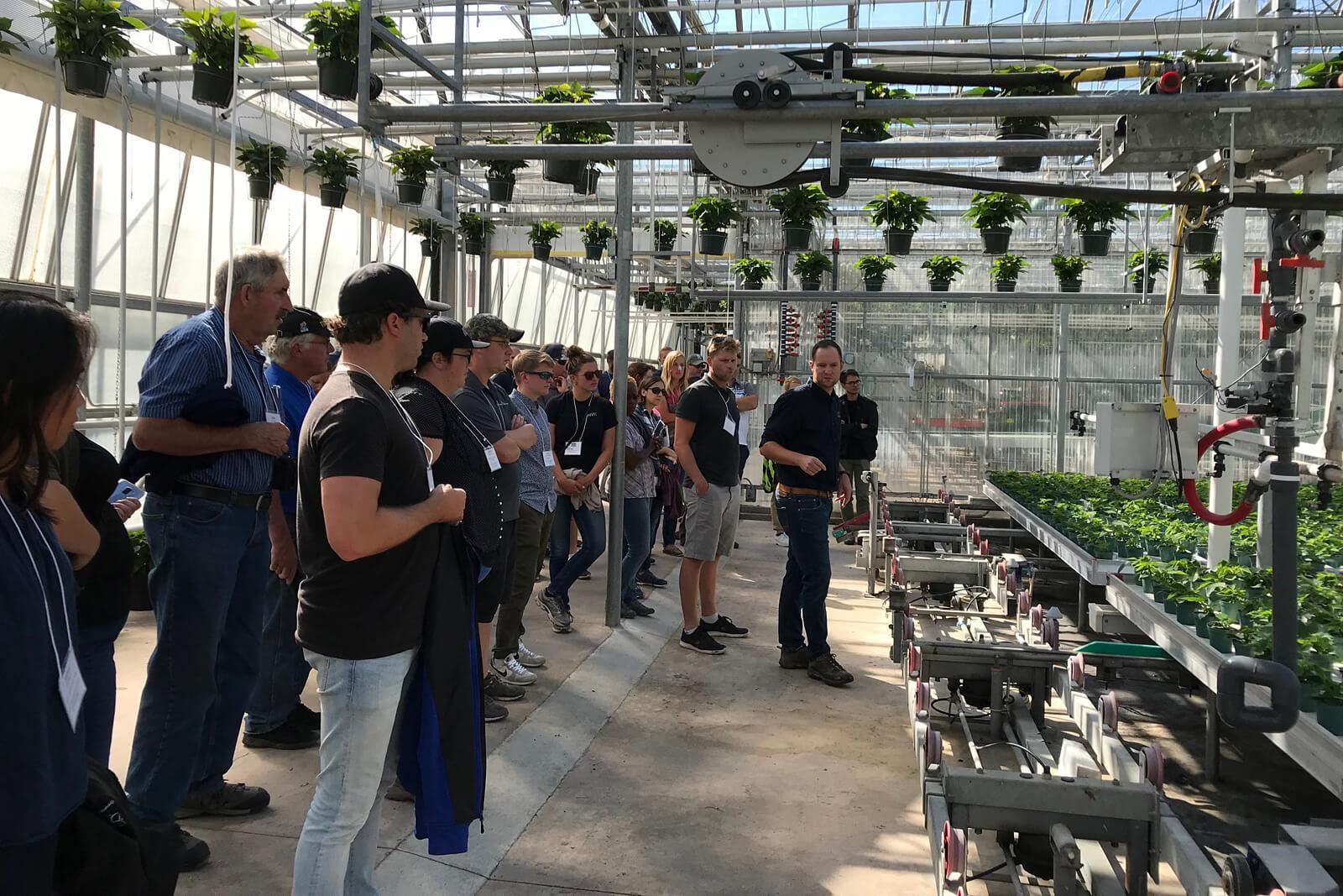Growers learn about production methods at Spring Valley Gardens in St. Catharines, Ont.