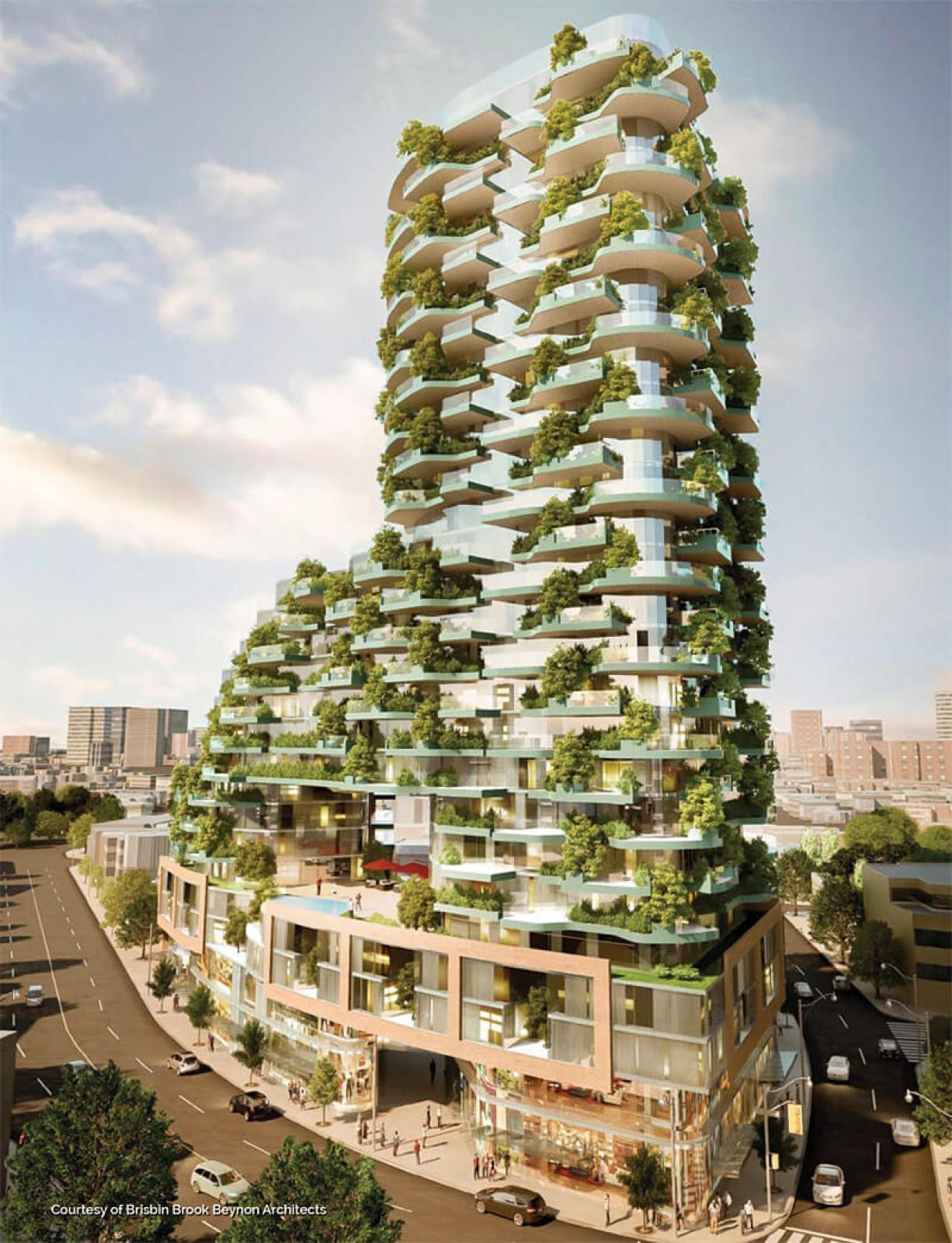 Architects around the world are now considering plants as an integral part of a buildings design.
