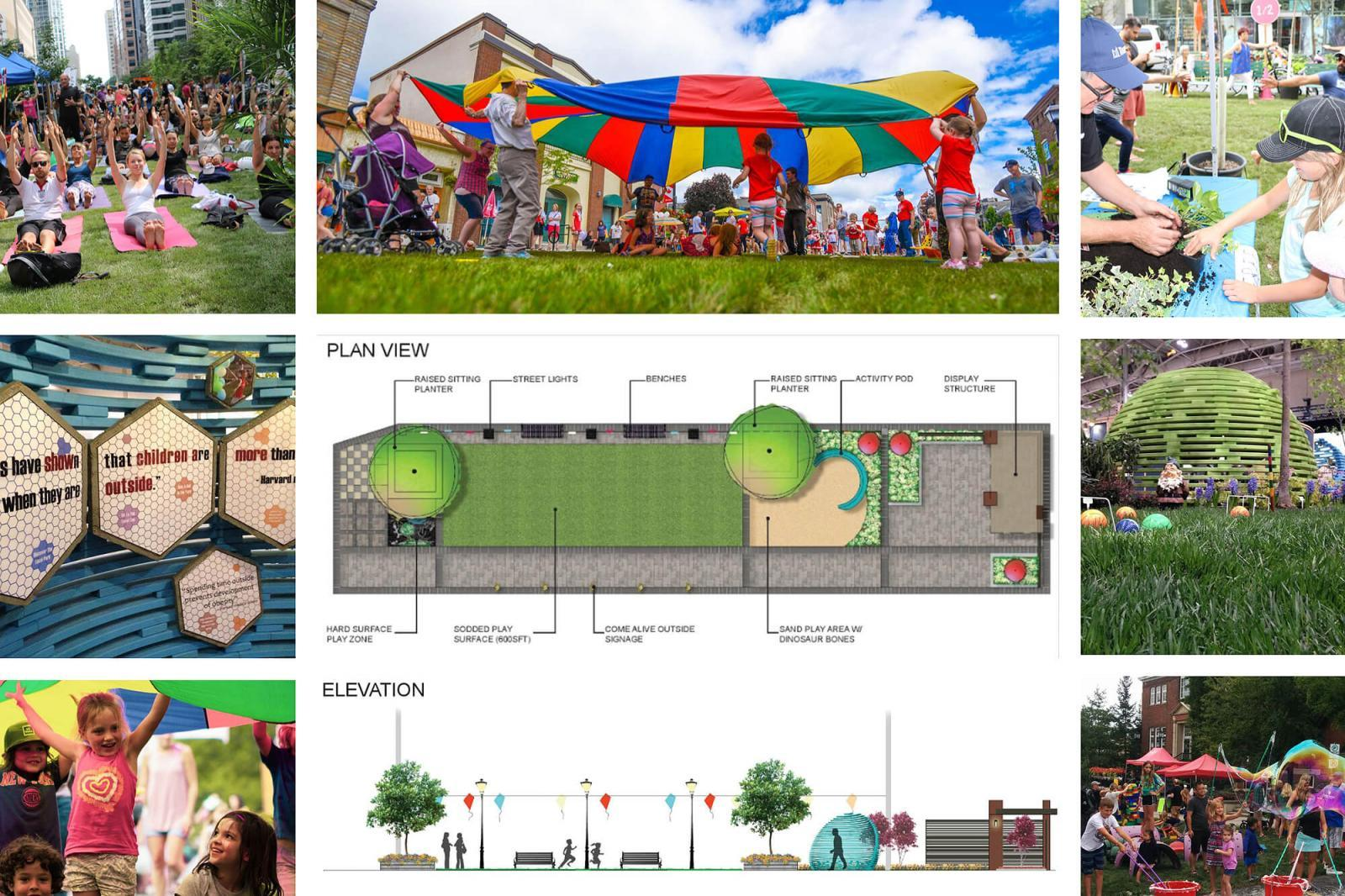 Green Streets Play Zone at Canada Blooms 2019