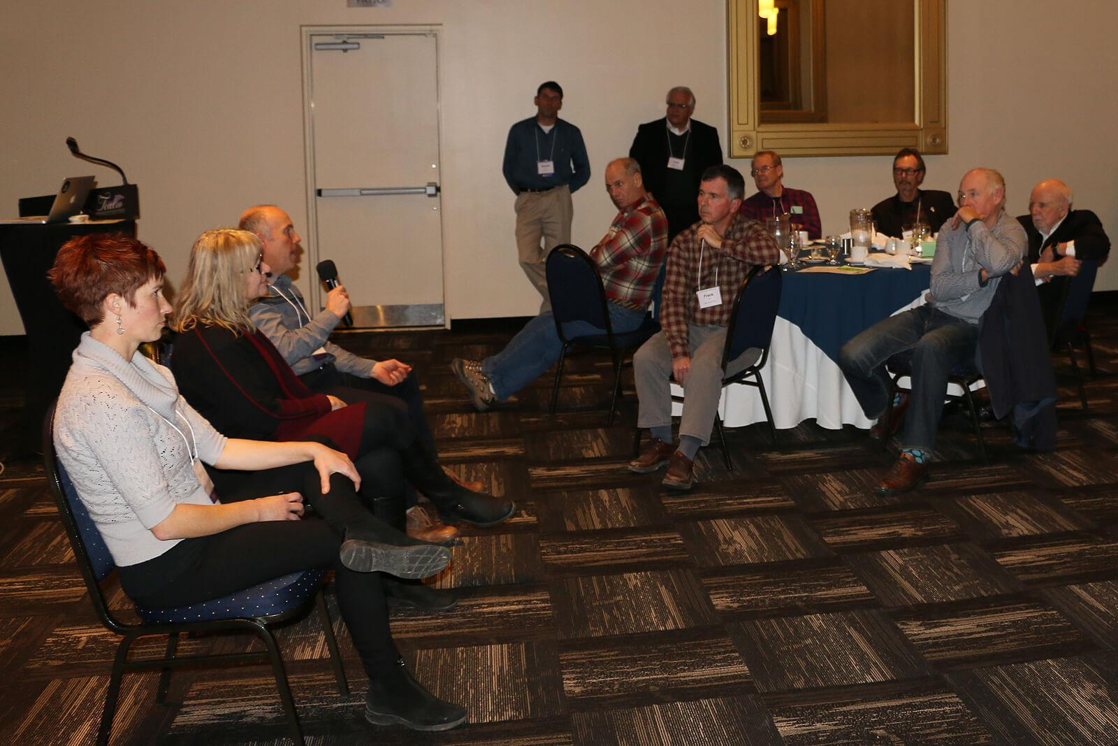 After the presentations, growers took the opportunity to discuss policies and factors that affect their business operations.