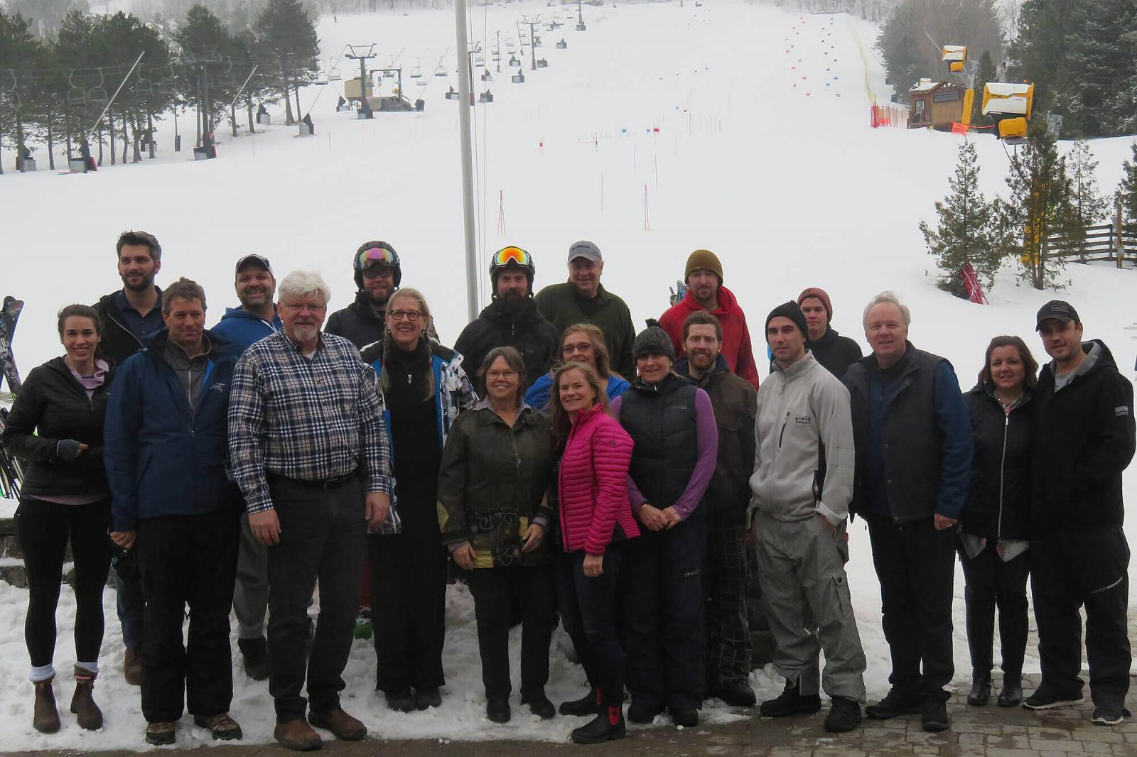 Ski and Spa Day participants enjoyed great conditions on Feb. 7.