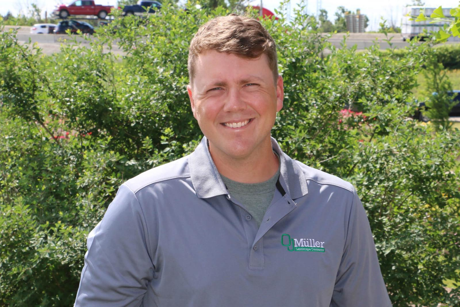 Chris Muller was drawn to a career in the landscape profession for many reasons.