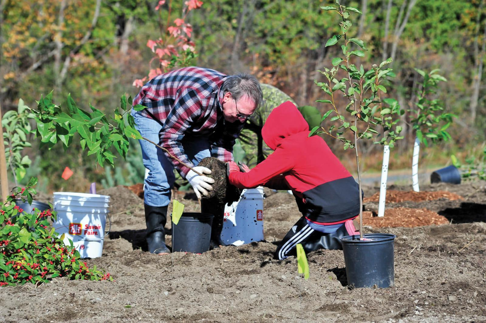 Community tree plantings are an integral part of the Highway of Heroes tree planting campaign.