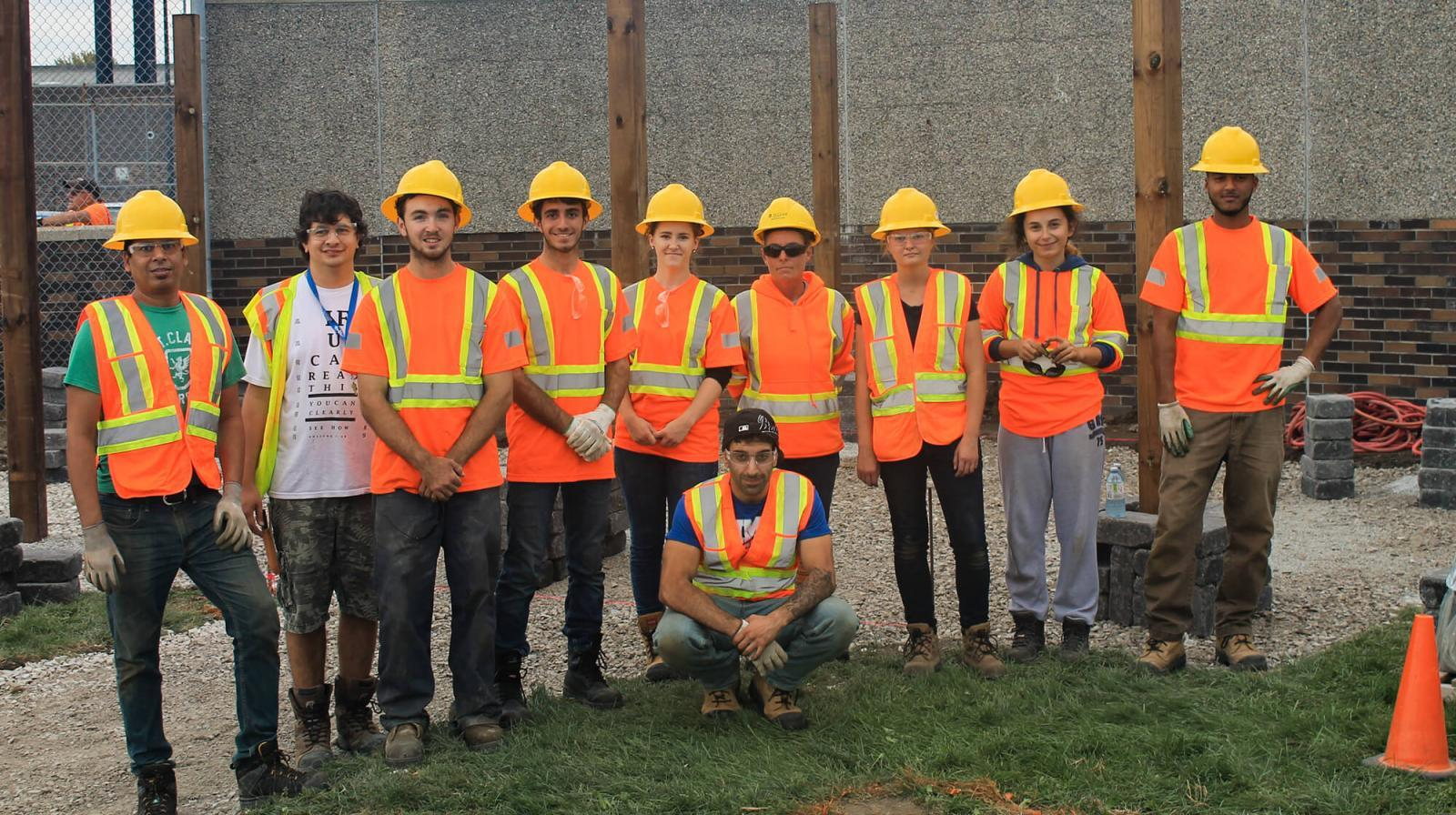 St. Clair College students worked with chapter member volunteers to build a legacy garden in Windsor.