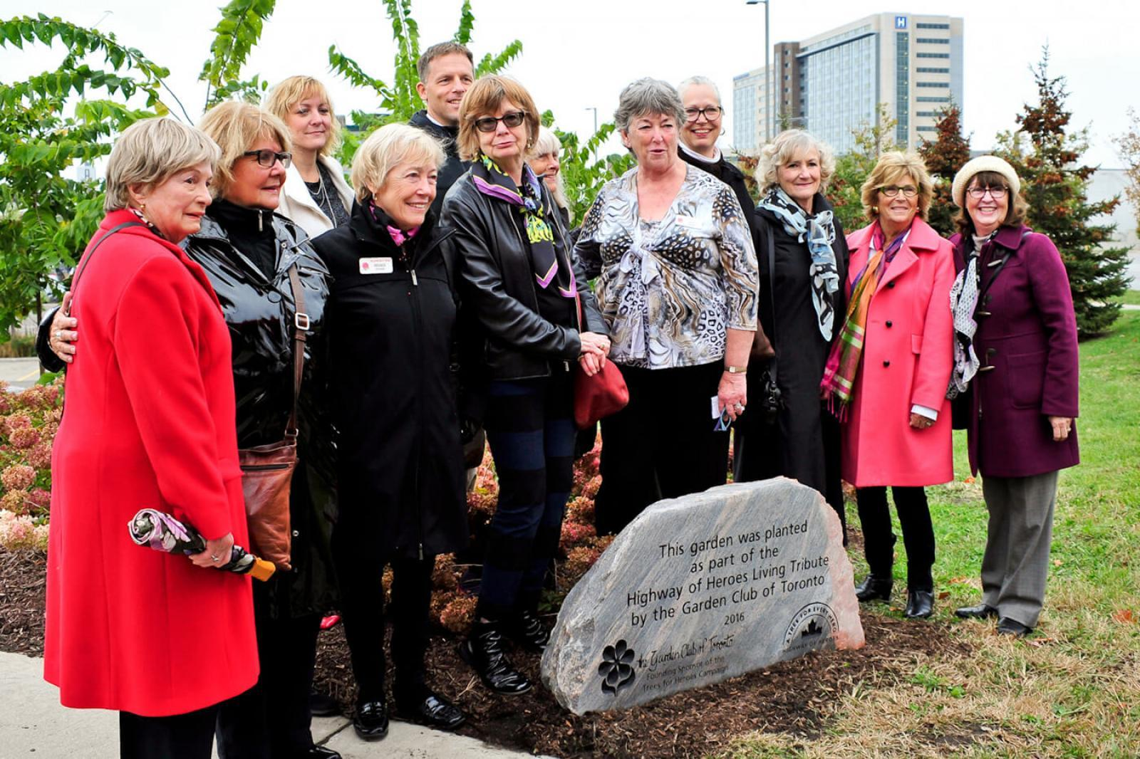 Garden Club of Toronto recognized for support of campaign