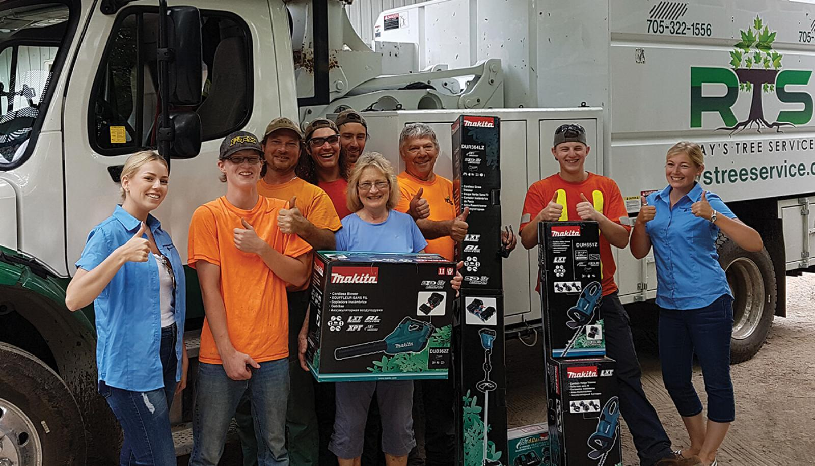 New member wins equipment from Makita