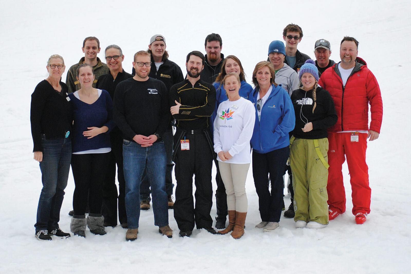 LO members enjoyed above average temperatures on the ski slopes this year.