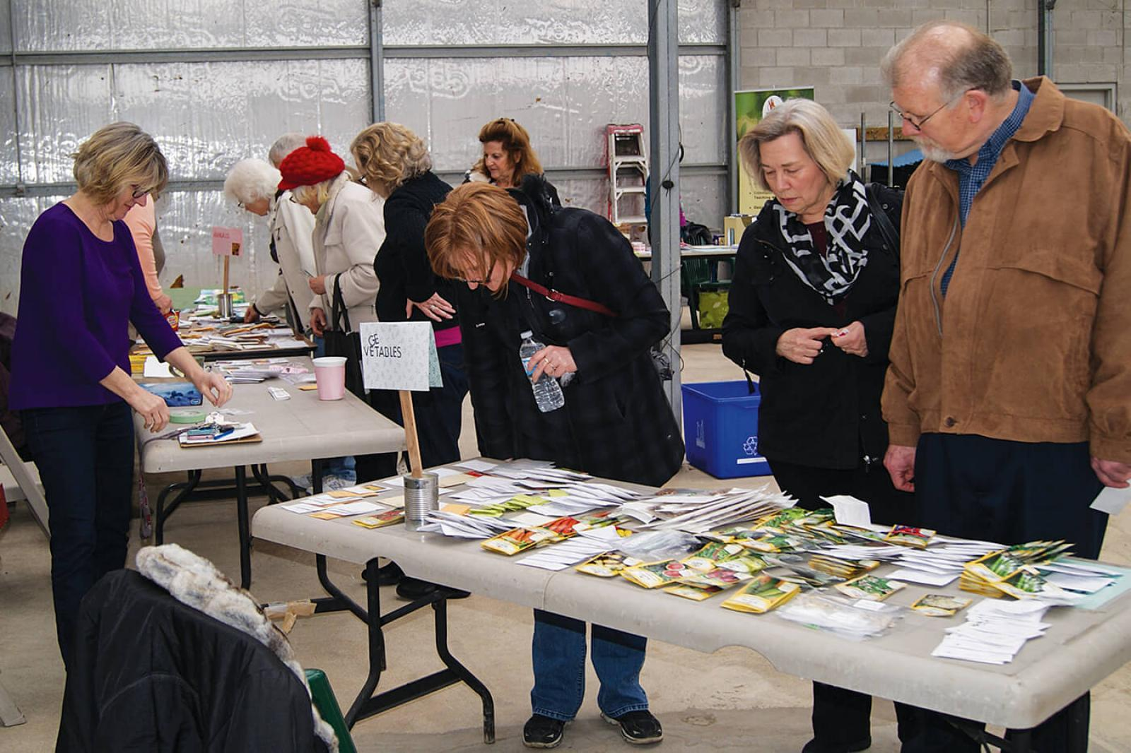 The annual seed exchange gets local gardeners well-equipped for spring planting.