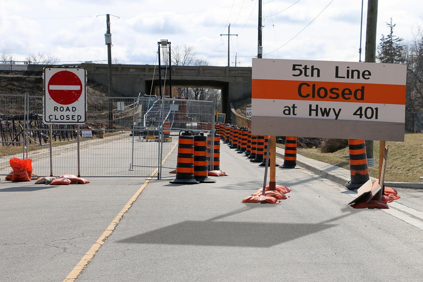 Road closure at LO Milton office