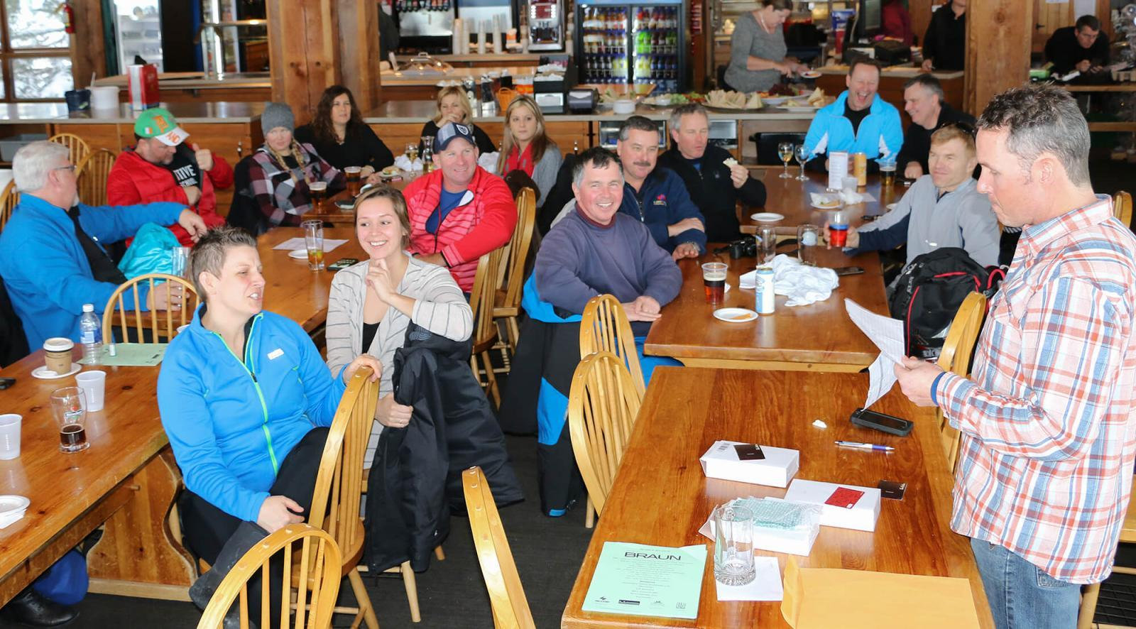 Prizes were awarded during the après ski at Osler.