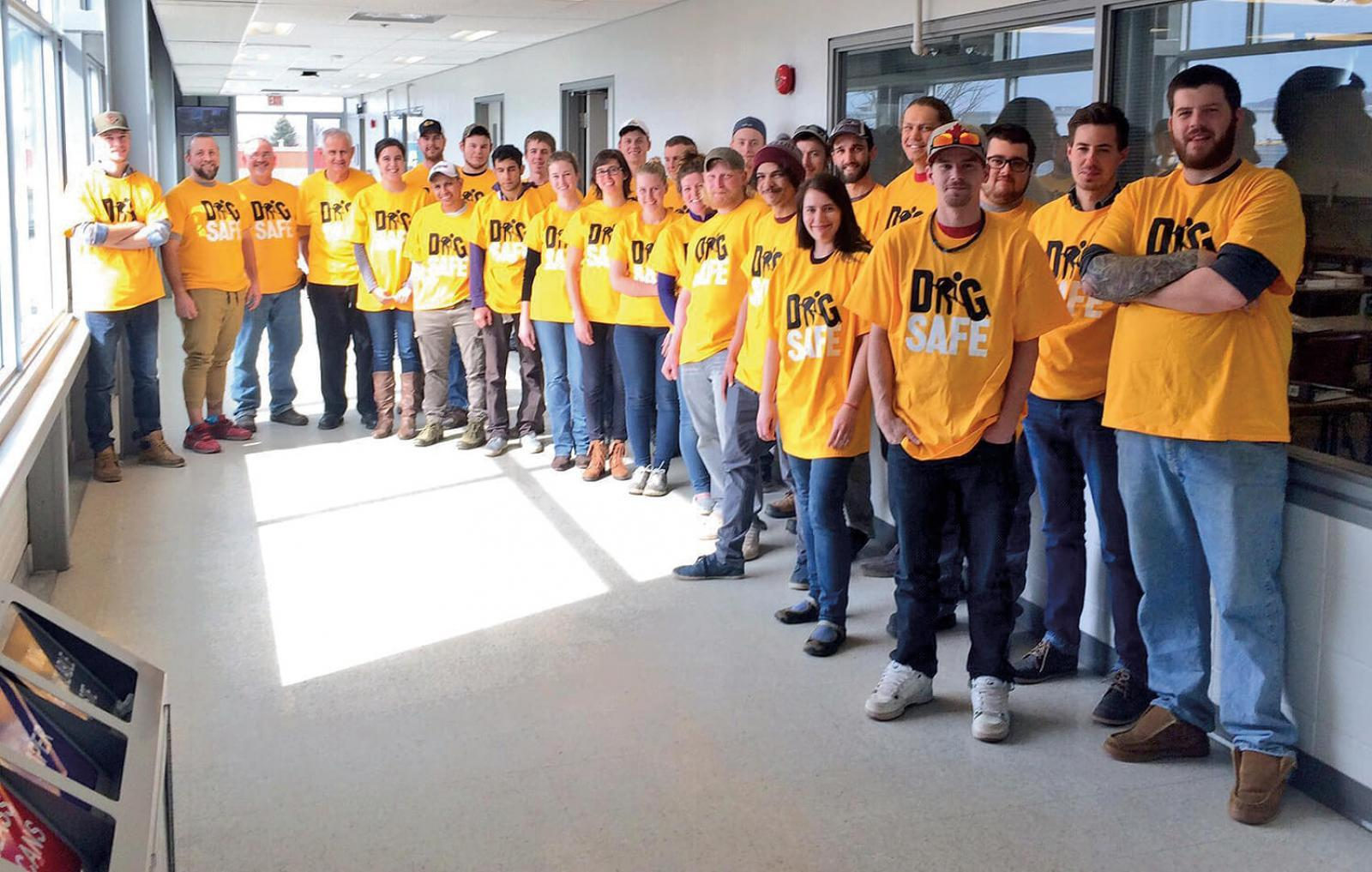 The annual Dig Safe public awareness campaign included an event at Mohawk College on Mar. 9.