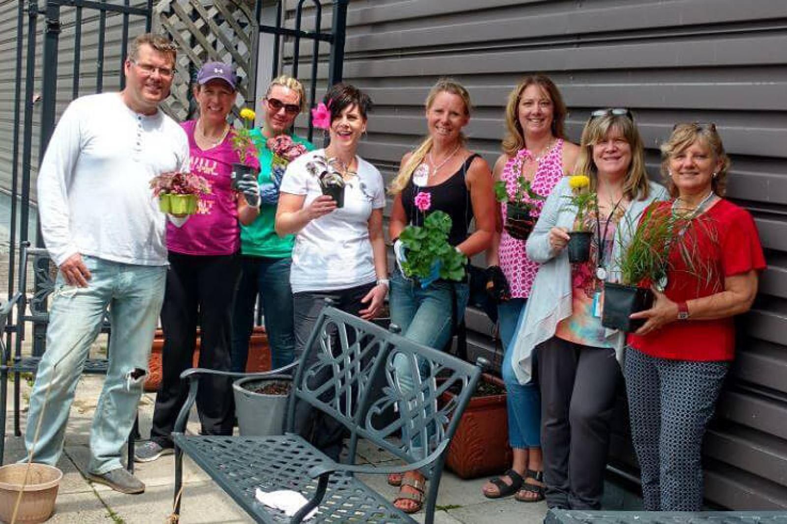 LO and Connon support terrace garden project