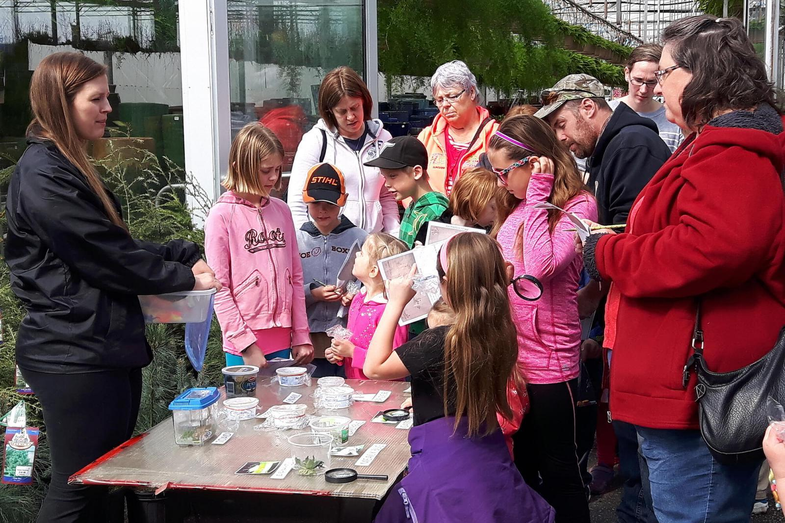 One of the many stations set up at Sipkens garden centre to educate and inspire young gardeners.