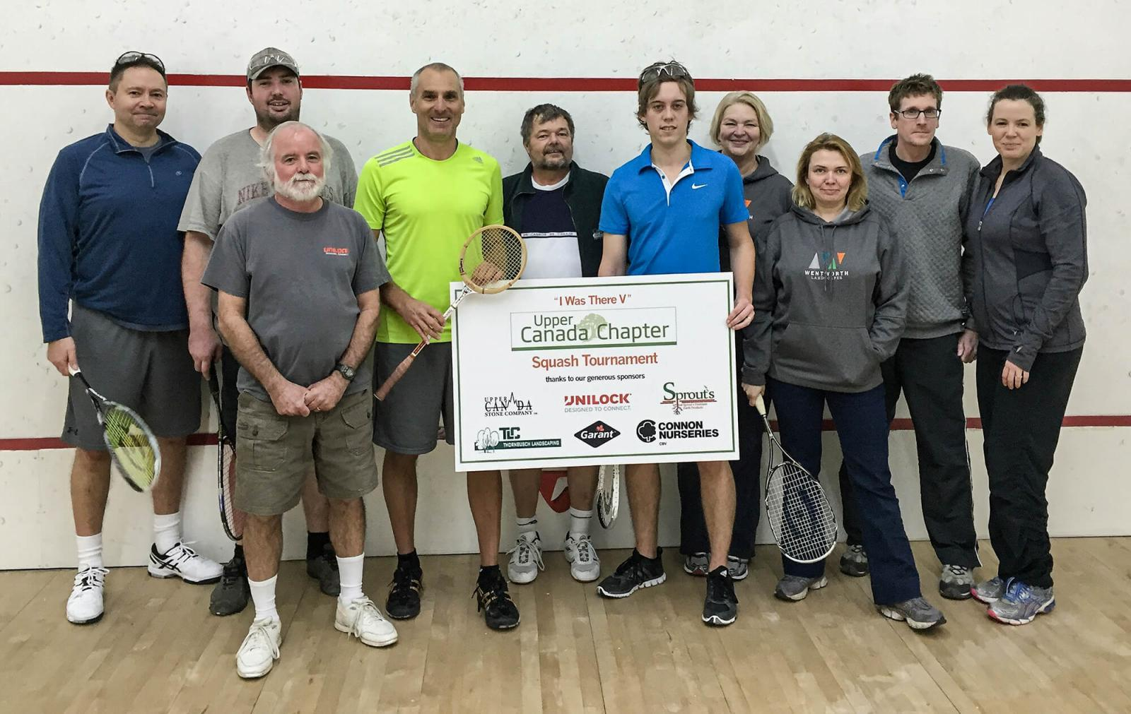 Upper Canada Chapter members prove competition can be fun at the squash tournament.