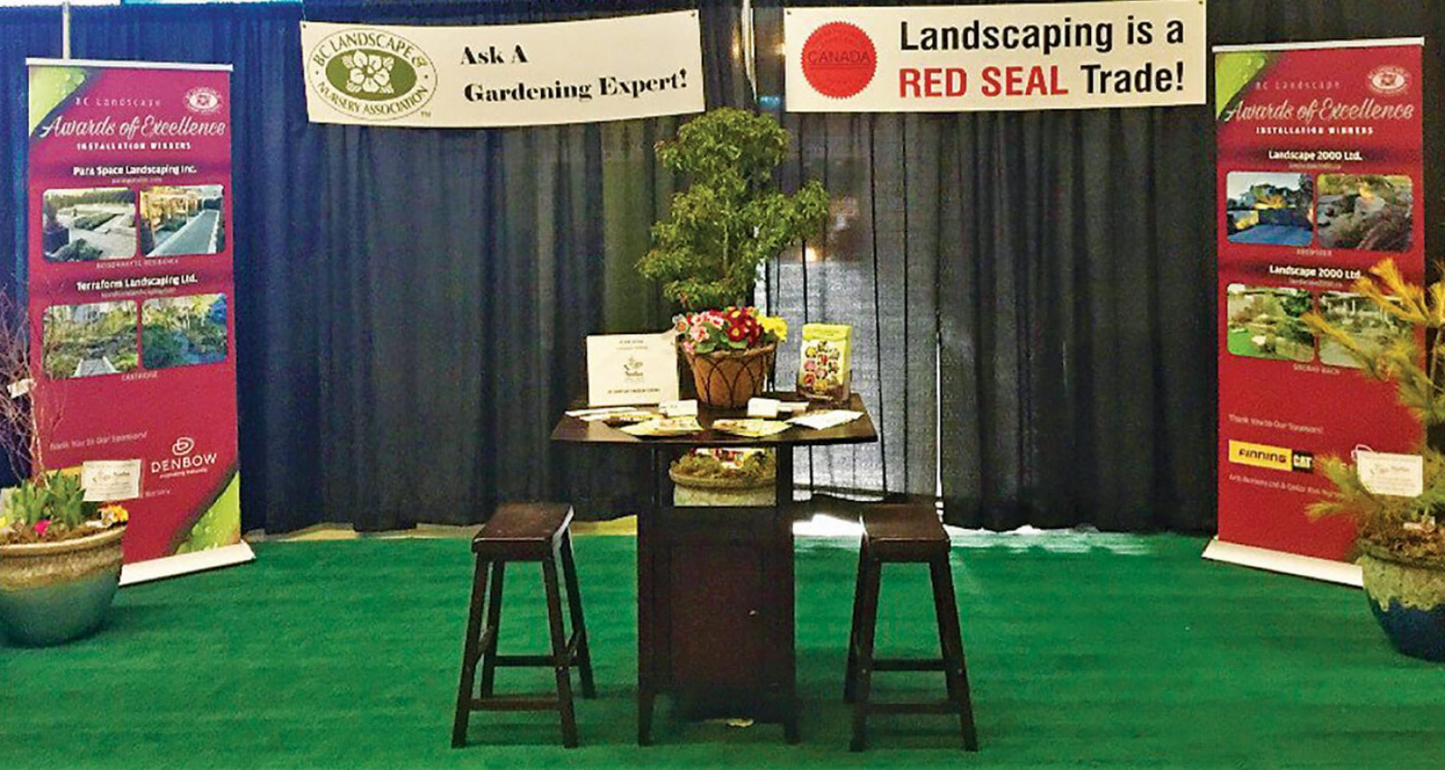 BCLNA booth at the Vancouver home show.