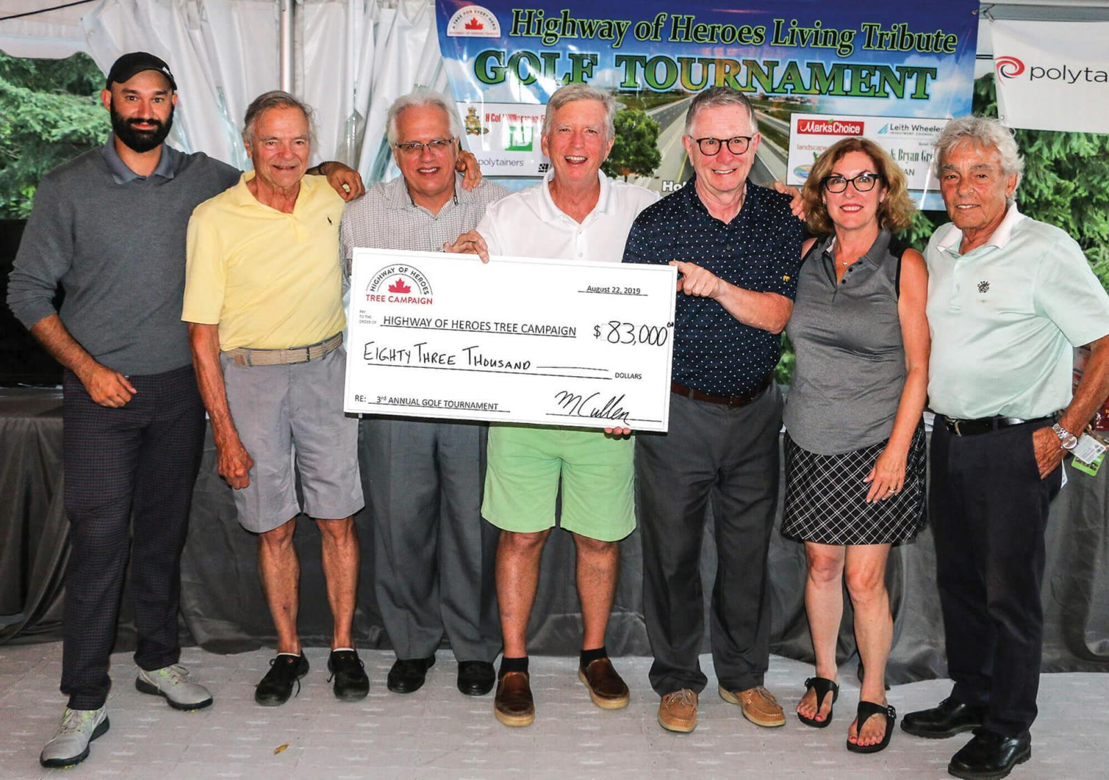 Golf tournament raises $80,000 for tree planting campaign