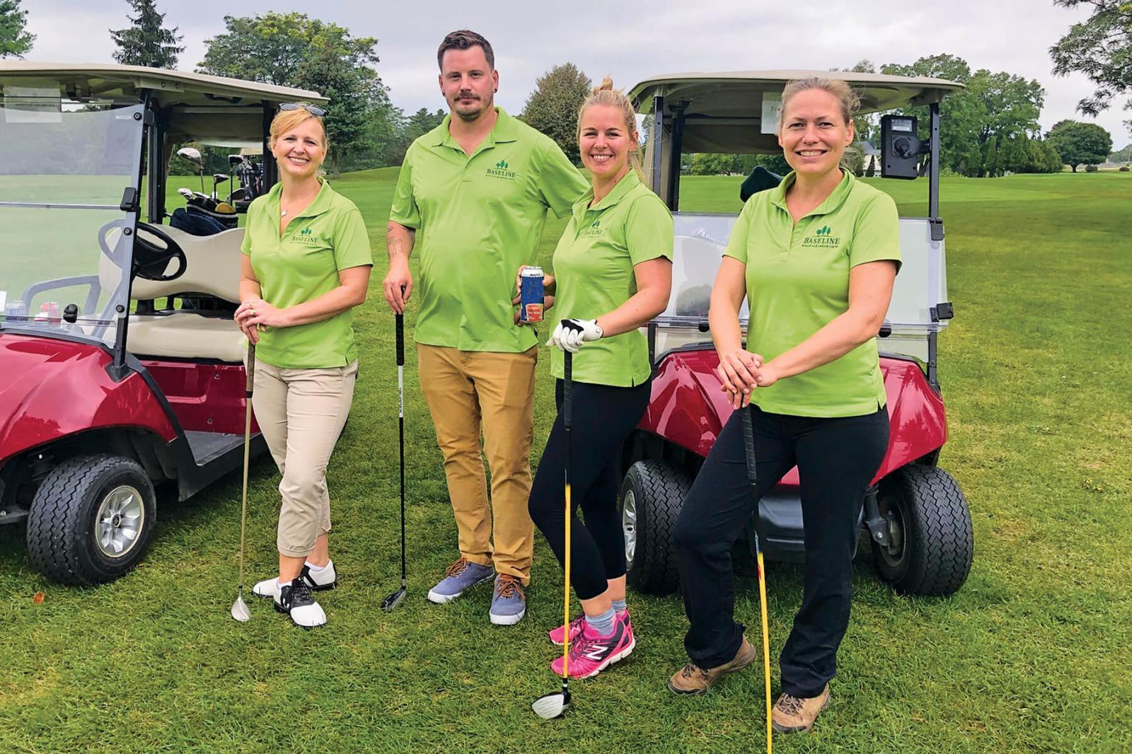 London Chapter golf tournament finds success on an unlucky day