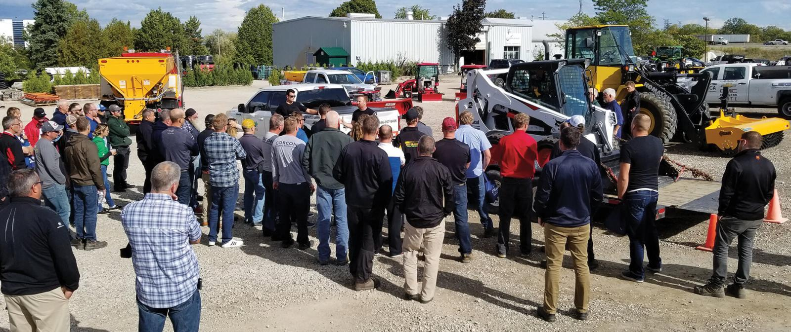 The commercial vehicle safety demonstration was led by Halton Police Services.