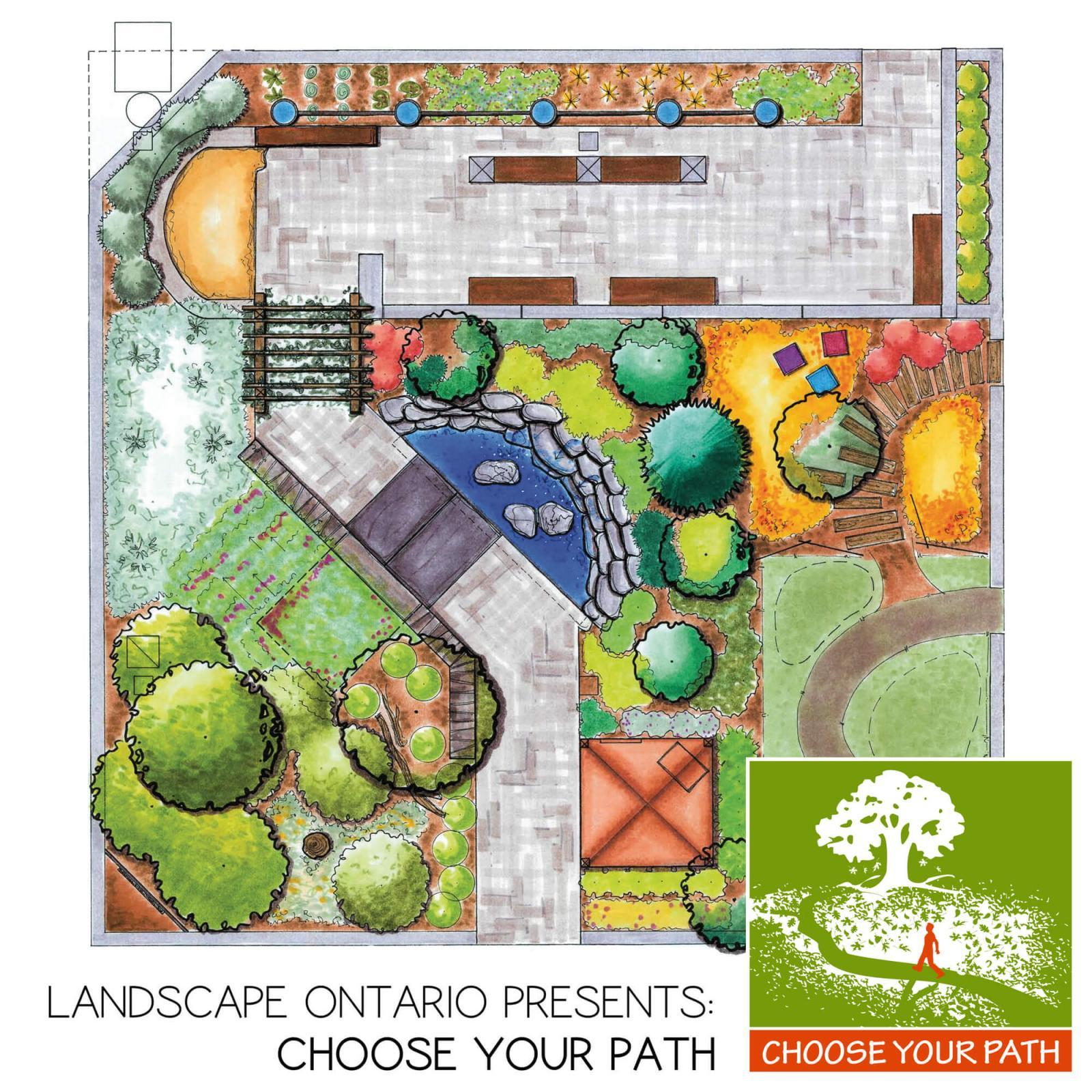 """Choose Your Path"" is the theme of this year's Landscape Ontario feature garden at Canada Blooms."