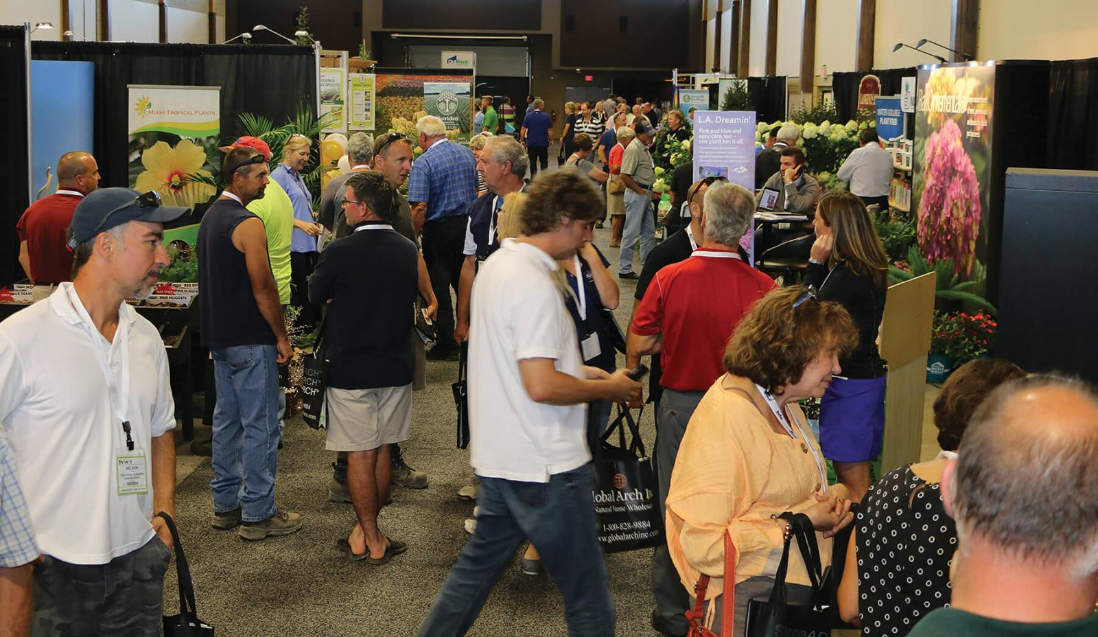 The aisles at Garden Expo's new home at the Ancaster Fairgrounds at Thrive saw good traffic on Wednesday and Thursday. The new location received positive reviews from both vendors and attendees.