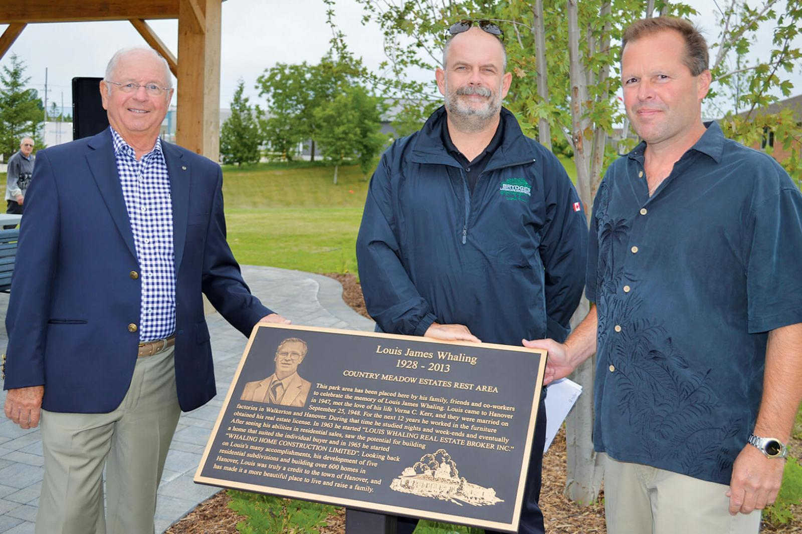 LO members help honour Hanover developer