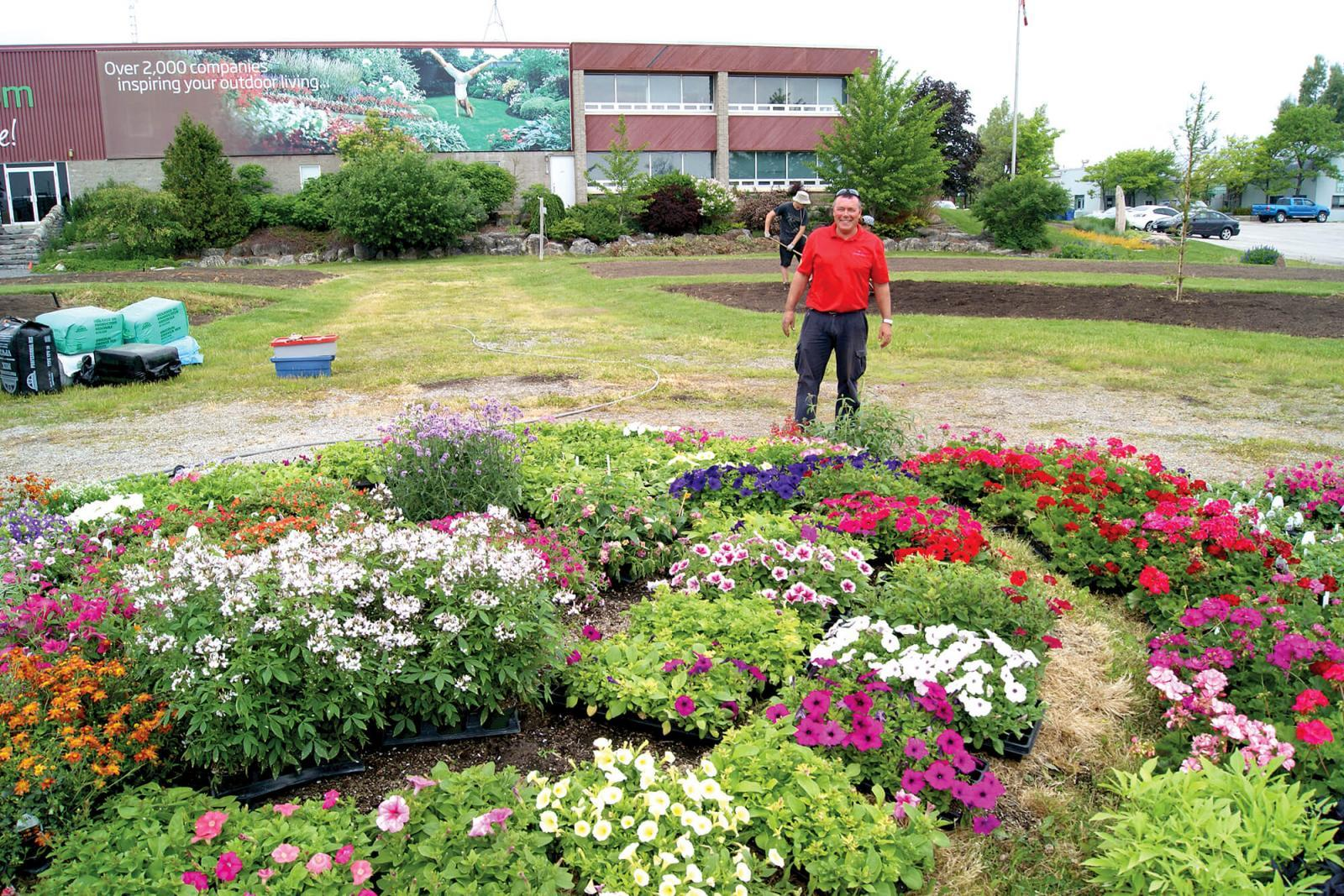 Trial Garden manager Rodger Tschanz prepares to plant the vast selection of new annuals this year.