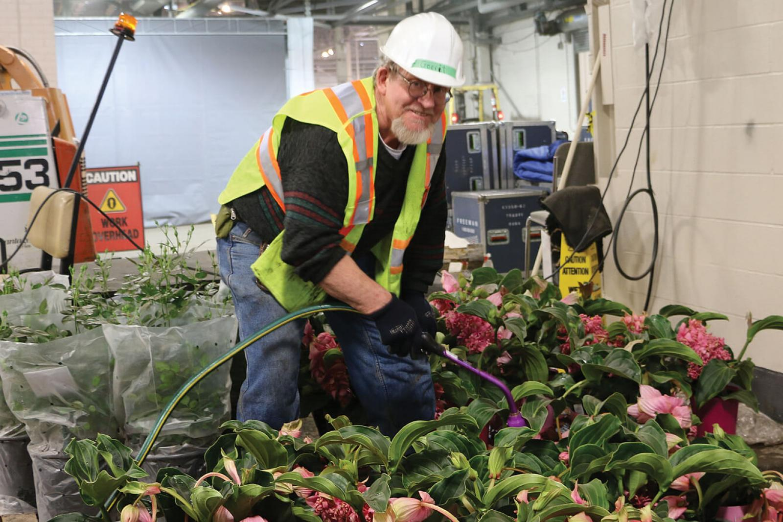 As seen by the long list of names on this page, it takes many volunteers, such as Gerrit Tervrugt to make Canada Blooms a success.
