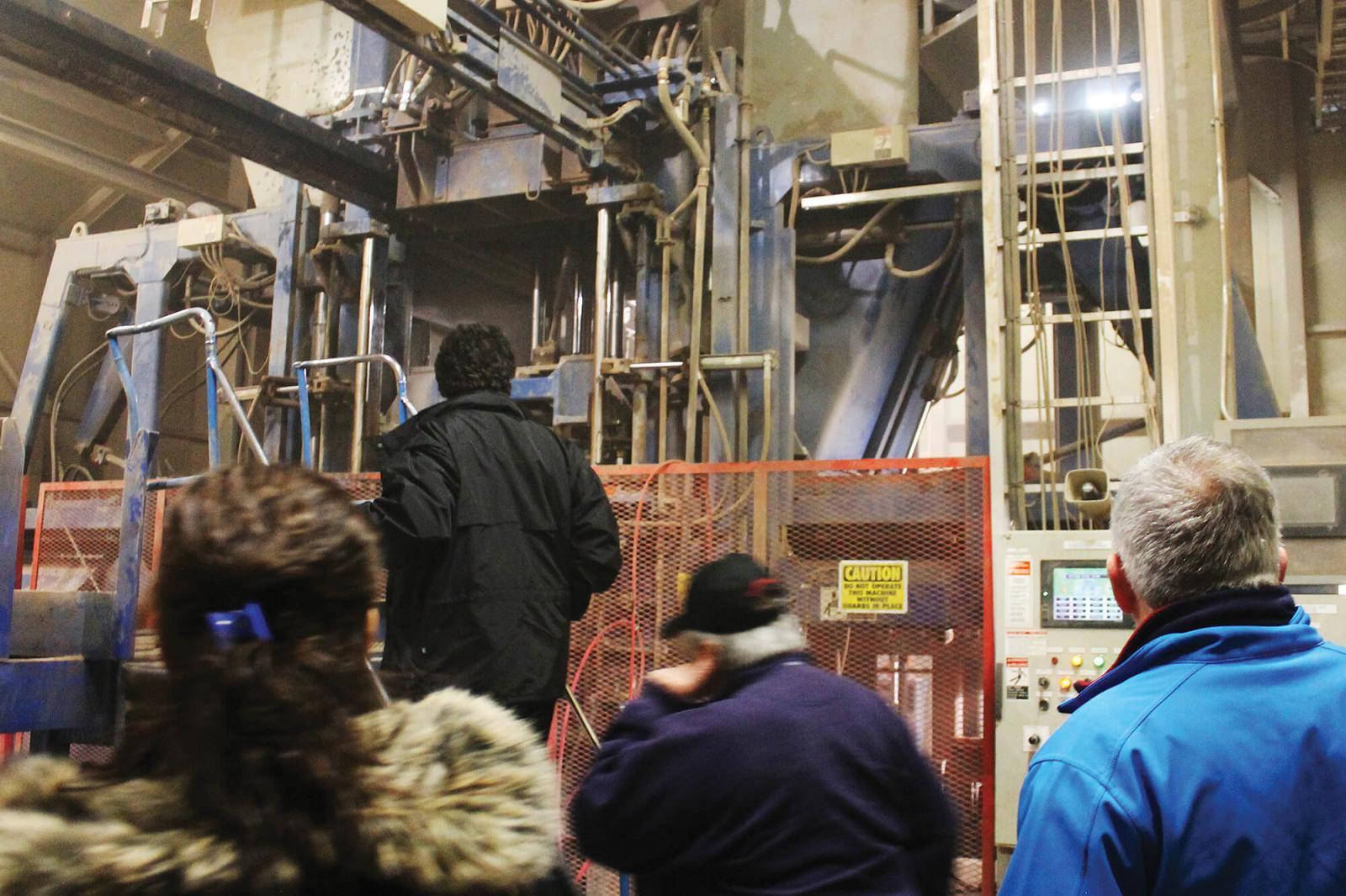 Paver customers enjoy plant tour