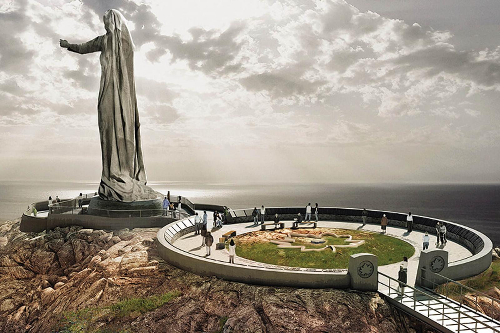 The proposed Mother Canada monument in Nova Scotia.