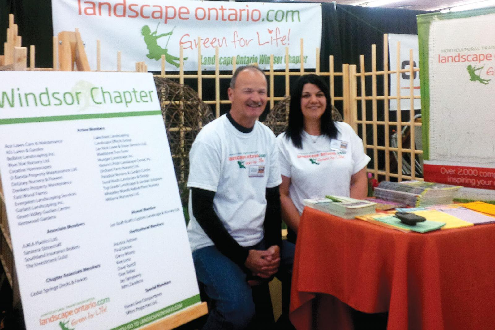 Don Tellier and Jay Rivait handle booth duties for the Windsor Chapter.