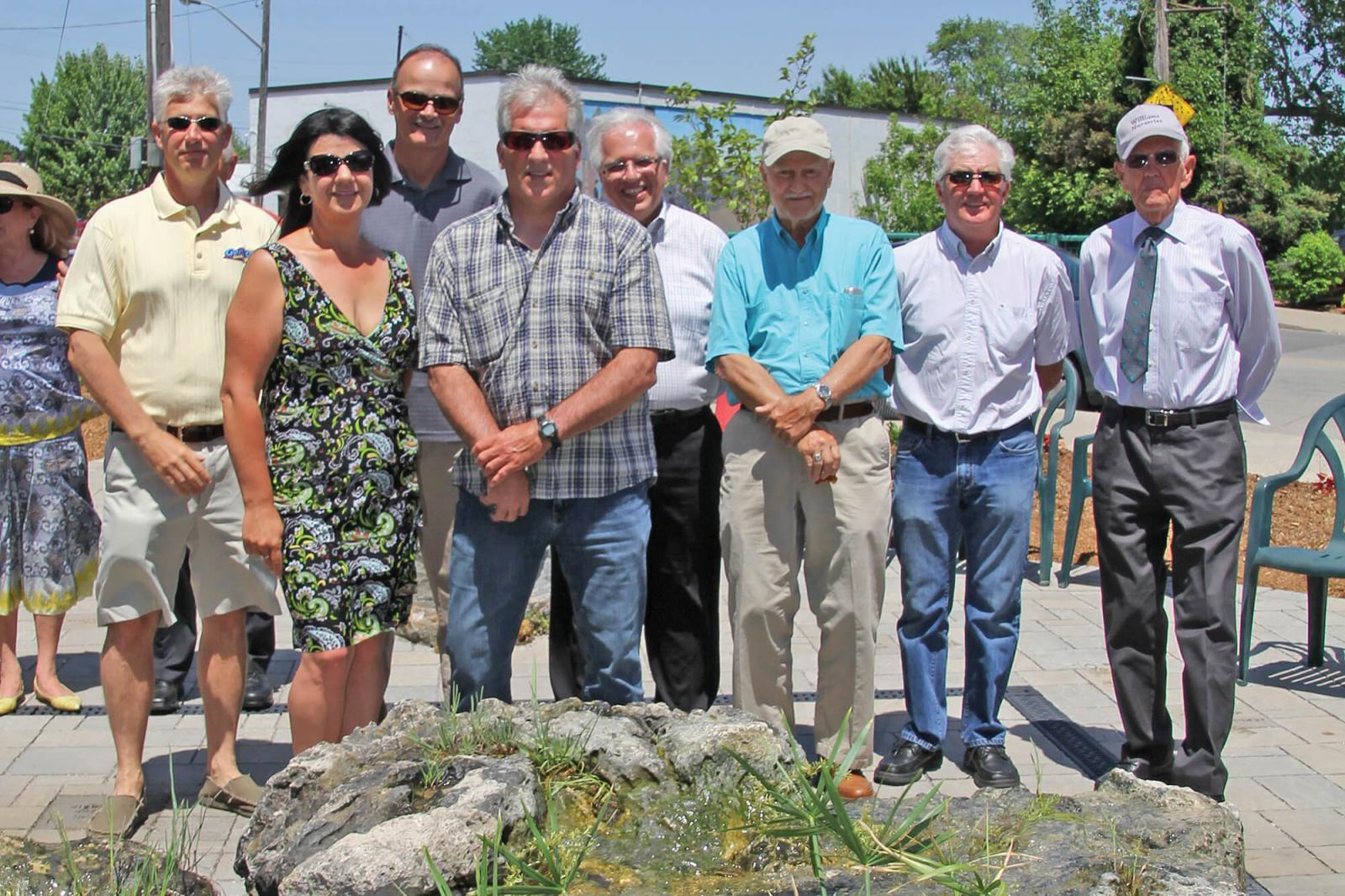 Past and current members of the Windsor Chapter attended the official opening of the Perry Molema Memorial Garden ion May 31.