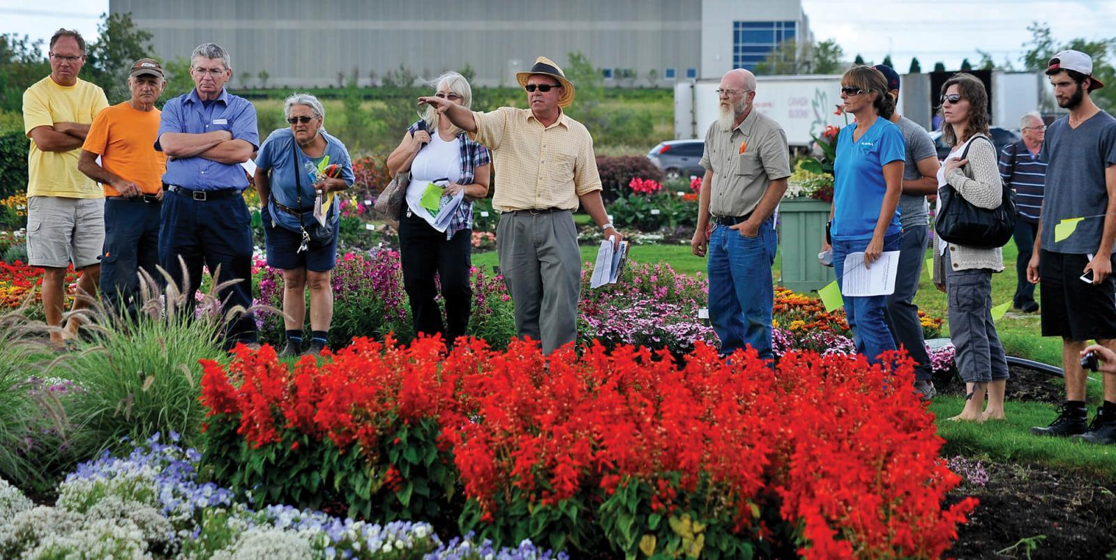 Over 70 people attended this year's trial garden open house for advice and information on the newest crop of ornamentals.