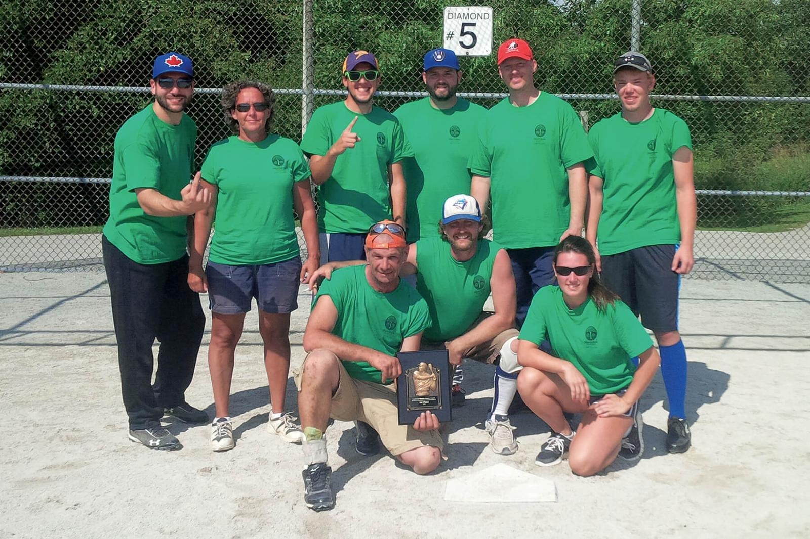 Sheridan Nurseries captured the 2014 Toronto Chapter baseball championship.