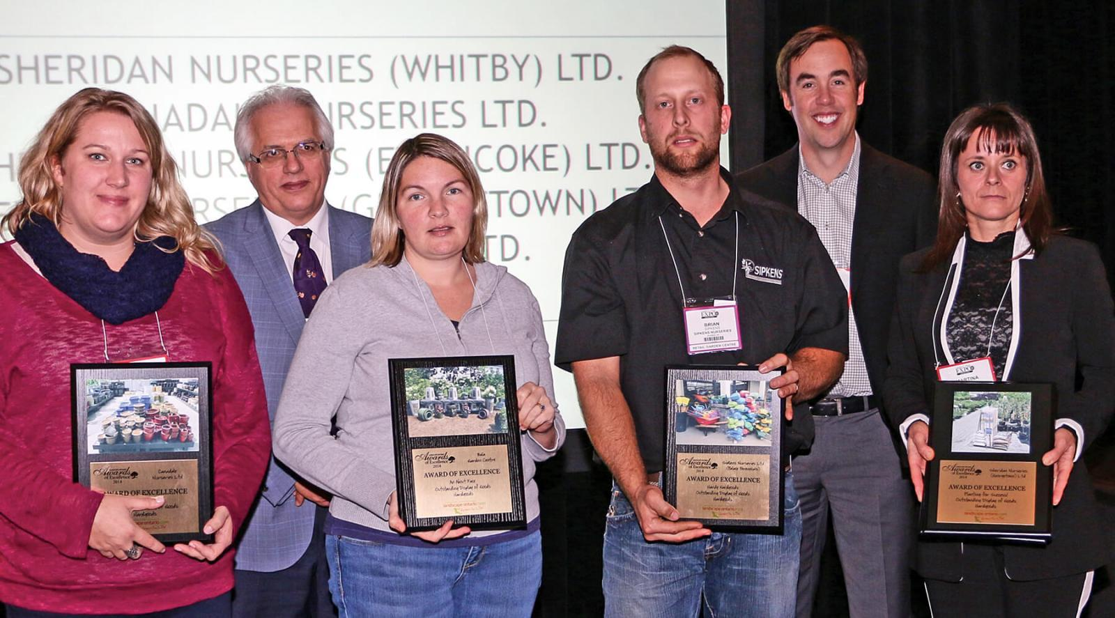 The top garden centres in Ontario were rewarded with the Awards of Excellence at a special presentations during Expo.