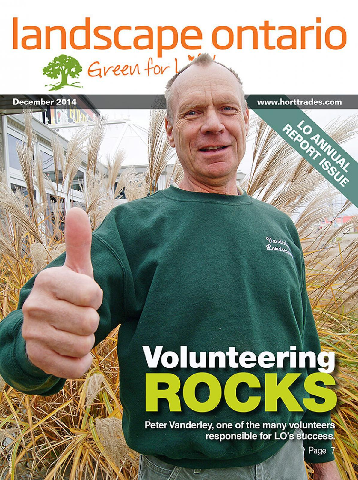 Volunteer Peter Vanderley is gives the thumbs up on the cover of this issue.