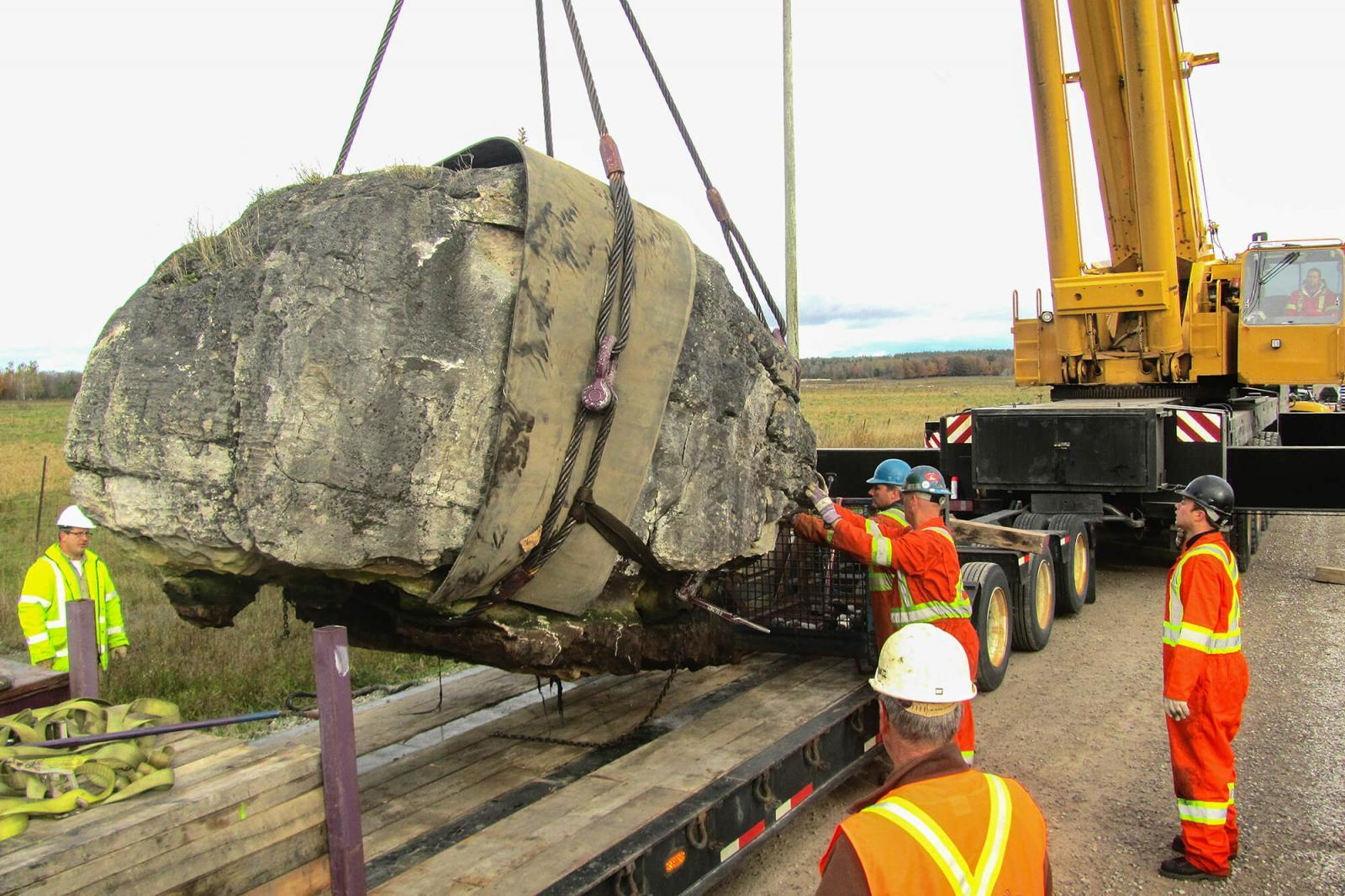 Moving huge rocks