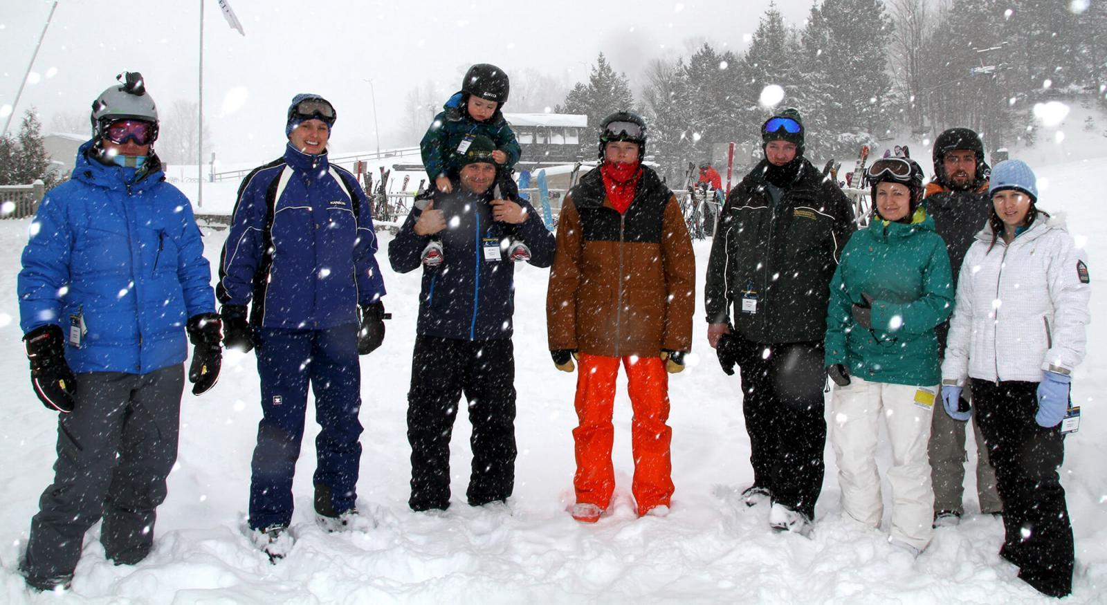 Georgian Lakelands Chapter's annual ski event was blessed with 20 cm of snow throughout the day.