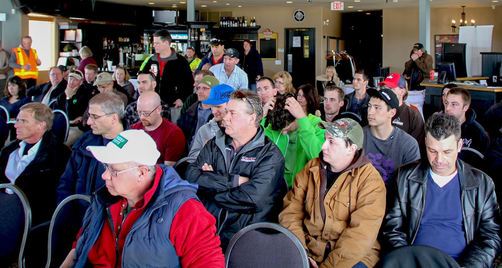Georgian Lakelands Chapter organizers were pleased with the huge attendance at its Mar. 5 meeting.