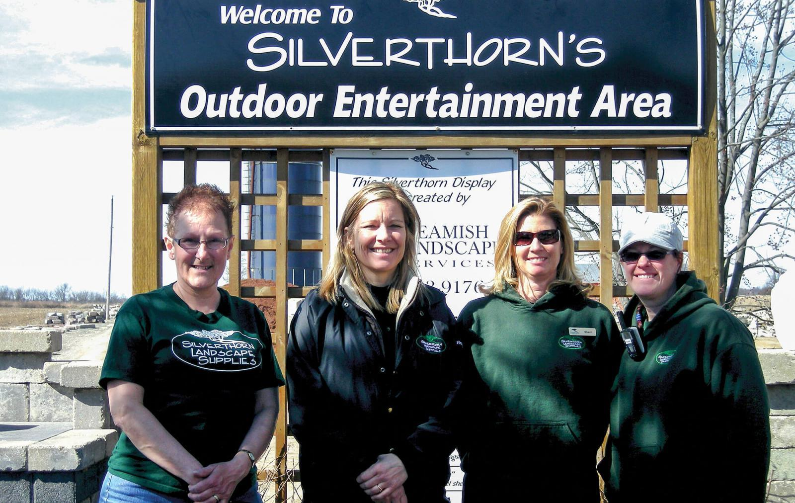 Silverthorn Landscape Supplies in St. Thomas hosted a contractor appreciation event. From left, Janet Peters, Hetty Teuber, Sherri Stiep and Deanne Tillotson.