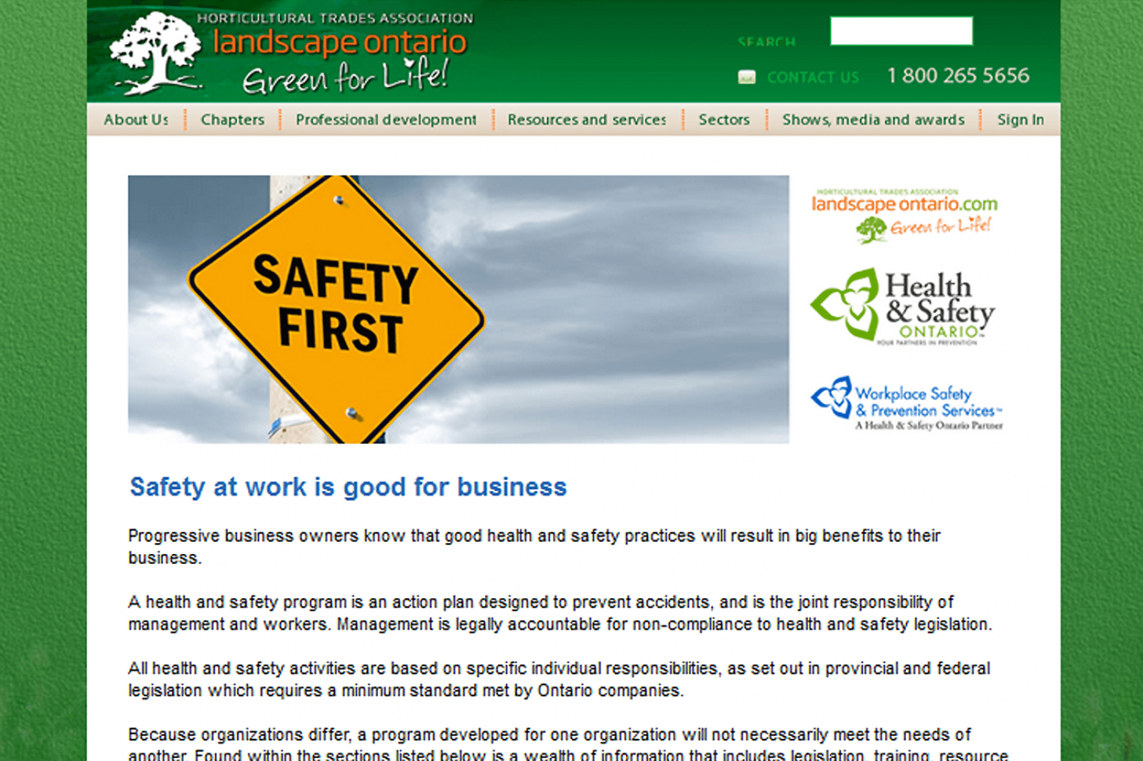 Association has proud record of promoting safe work practices