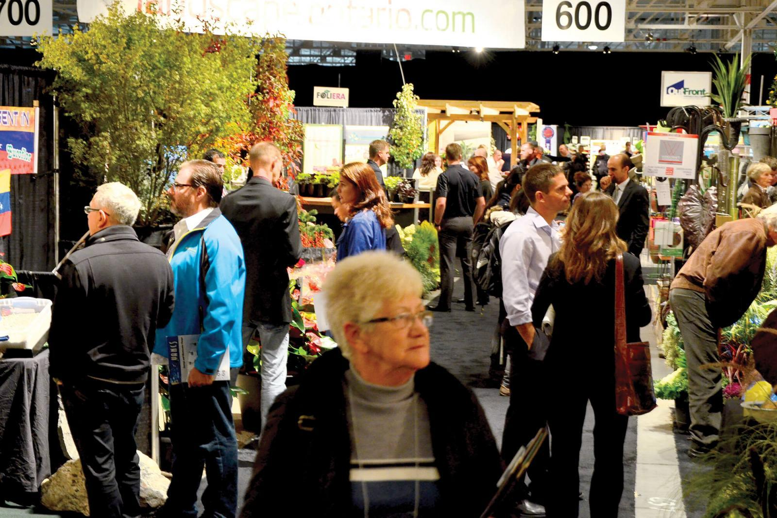 The walkways were filled during peak times on the trade show floor.