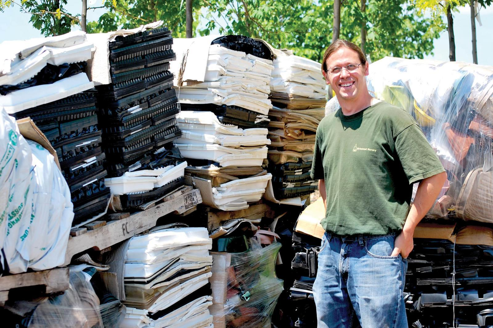 Peter Rofner of Richmond Nursery doesn't just talk about helping the environment.