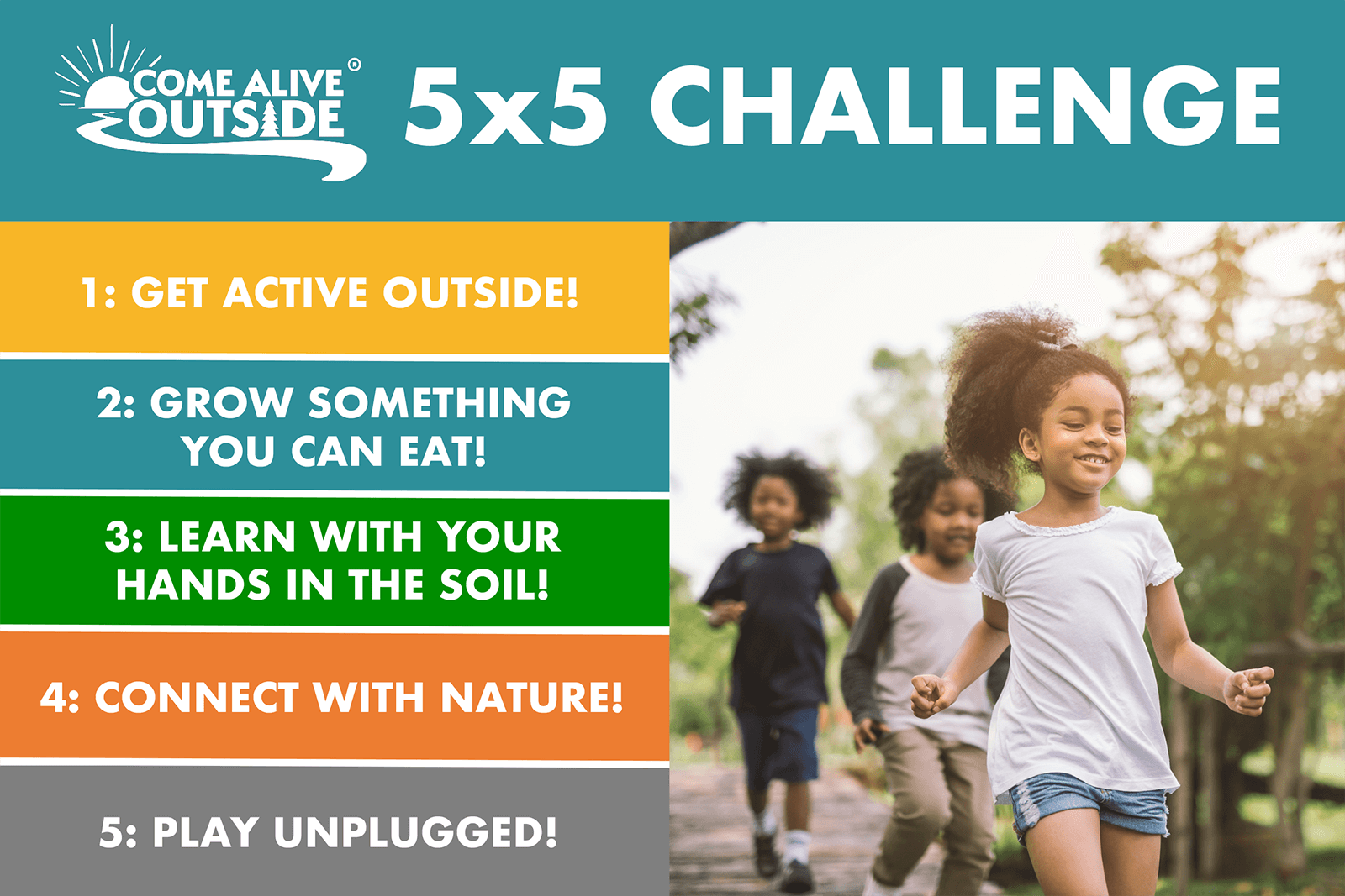 Come Alive Outside 5x5 Challenge